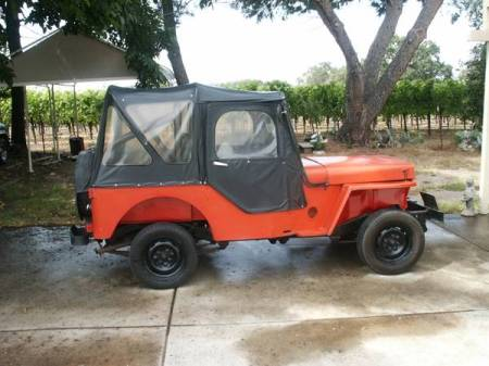 1964 Jeep DJ3 Volvo engine right