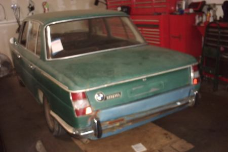 1965 BMW 1800 left rear