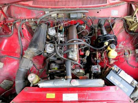 1970 Volvo 142S engine