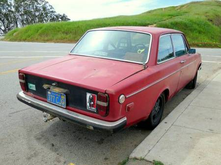 1970 Volvo 142S right rear