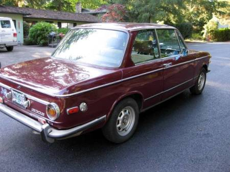 1973 BMW 2002 right rear