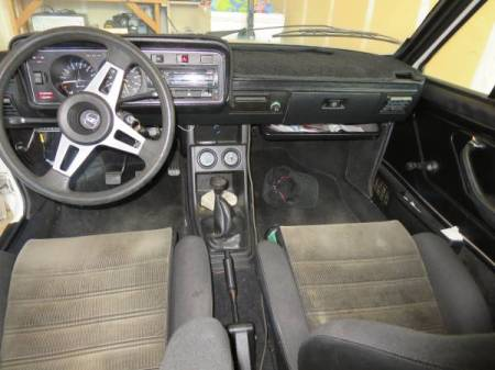 1978 VW Scirocco interior