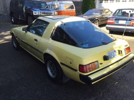 1979 Mazda RX-7 left rear