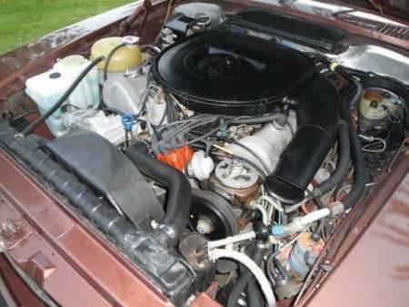 1979 Mercedes 450 SLC engine