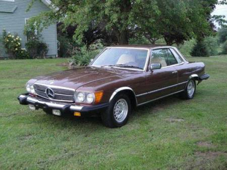 1979 Mercedes 450 SLC left front