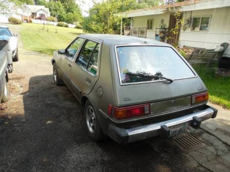 1984 Dodge Colt DL left rear