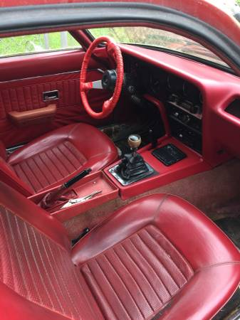1970 Opel GT red interior