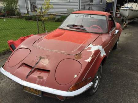 1970 Opel GT red left front