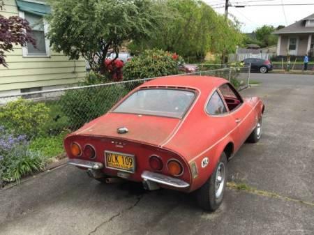 1970 Opel GT red right rear