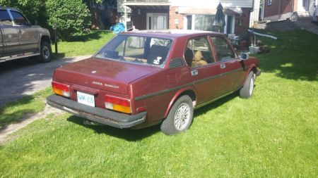 1979 Alfa Romeo Alfetta Sedan maroon right rear