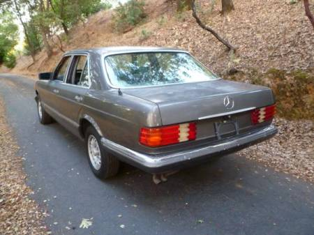 1982 Mercedes 280S left rear