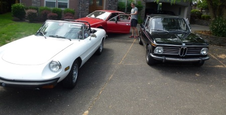11 1977 Alfa Spider and 1972 BMW 2002tii and 1979 Alfa Alfetta GT in Vancouver