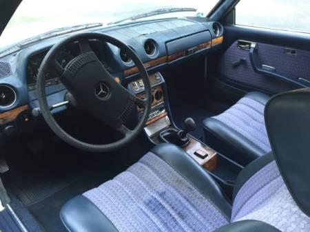 1977 Mercedes 230C interior