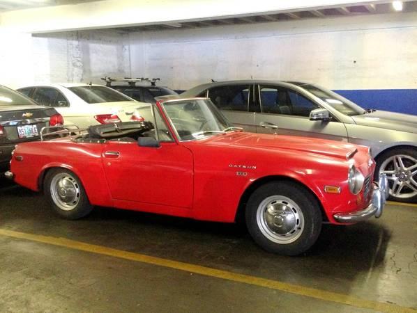 Red Roadster 1970 Datsun 1600 Spl311 Rusty But Trusty