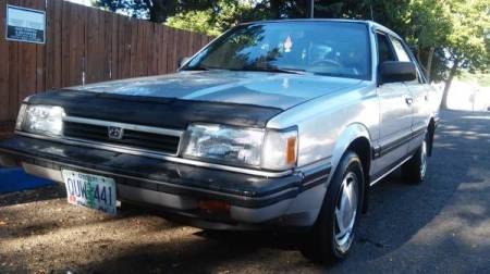 1989 Subaru GL-10 Turbo sedan left front