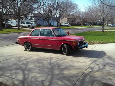1974 BMW 2002 automatic right front