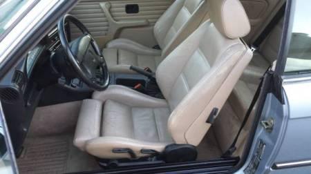 1990 BMW 325i Convertible interior