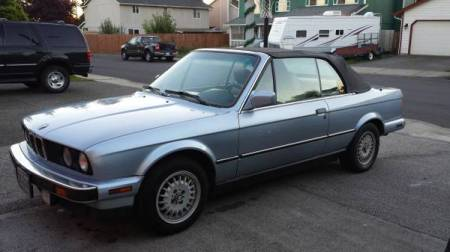 1990 BMW 325i Convertible left front