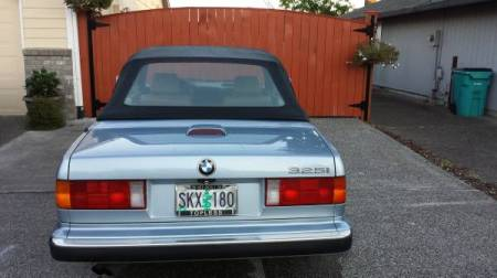 1990 BMW 325i Convertible rear
