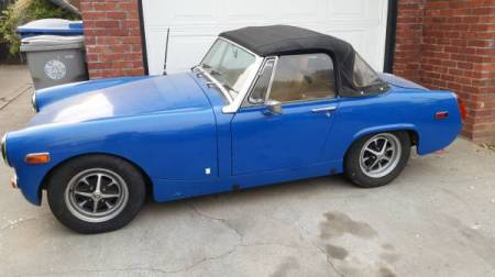 1972 MG Midget left side