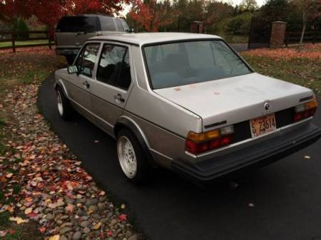 1984 Volkswagen Jetta GLI left rear