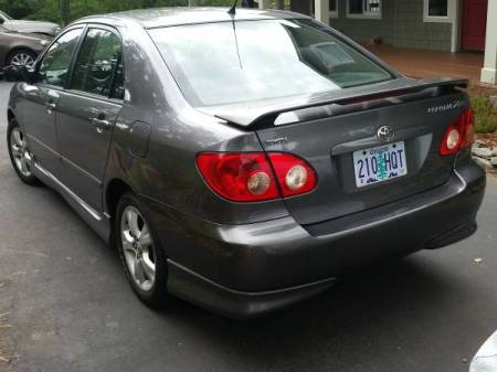 2005 Toyota Corolla XRS left rear