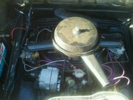 1965 Chevrolet Corvair 500 coupe engine