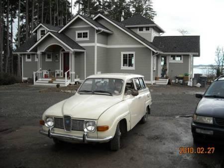 1970 Saab 95 left front