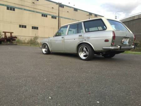 1972 Datsun 510 wagon 2 left rear