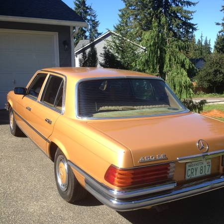 1973 Mercedes 450 SE left rear
