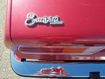 1976 Pontiac Sunbird badge
