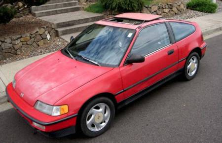 1990 Honda Civic CRX Si left front