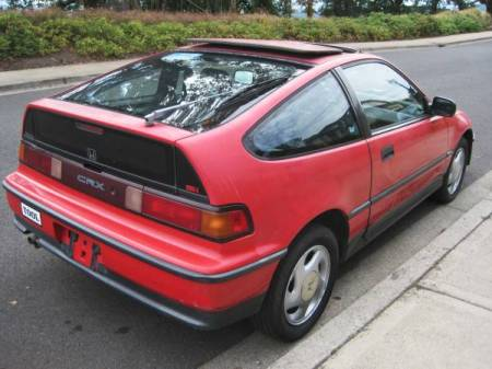 1990 Honda Civic CRX Si right rear
