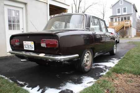 1972 Alfa Romeo Berlina right rear