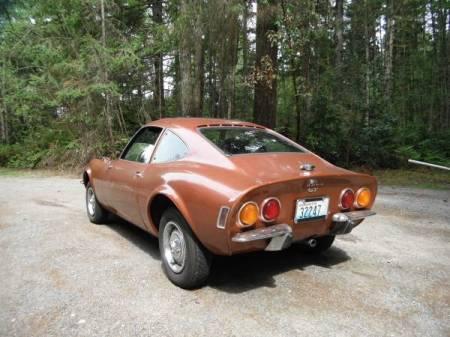 1973 Opel GT left rear
