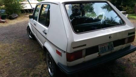 1978 VW Rabbit 2 left rear