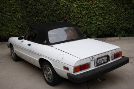 1982 Alfa Romeo Spider Veloce left rear