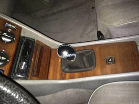 1984 Mercedes 300D console