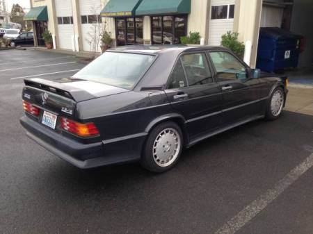 1987 Mercedes 190E right rear
