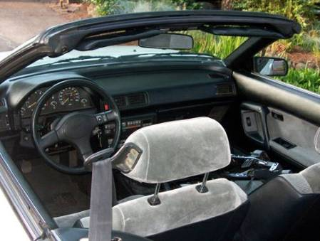 1988 Toyota Celica convertible interior