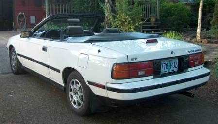 1988 Toyota Celica convertible left rear