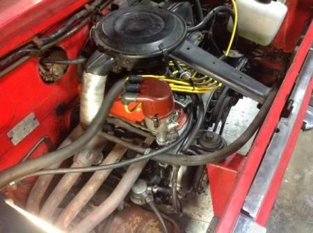1970 Fiat 850 Spider 1 engine