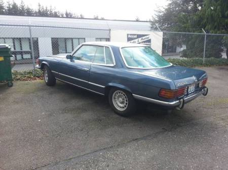 1973 Mercedes 450 SLC left rear