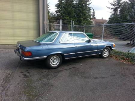 1973 Mercedes 450 SLC right rear
