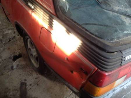 1983 Renault Fuego Turbo rear quarter damage