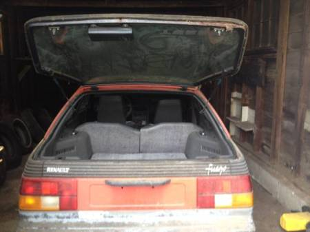1983 Renault Fuego Turbo trunk