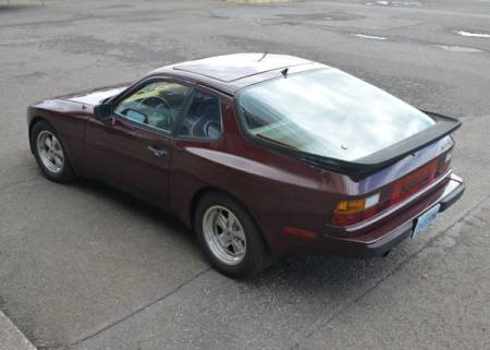 1984 Porsche 944 left rear