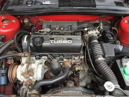 1989 Dodge Lancer Shelby Turbo engine
