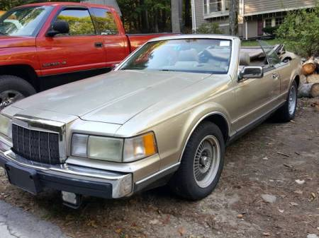 1989 Lincoln Mk VII convertible left front