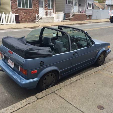 1989 VW Cabriolet right rear